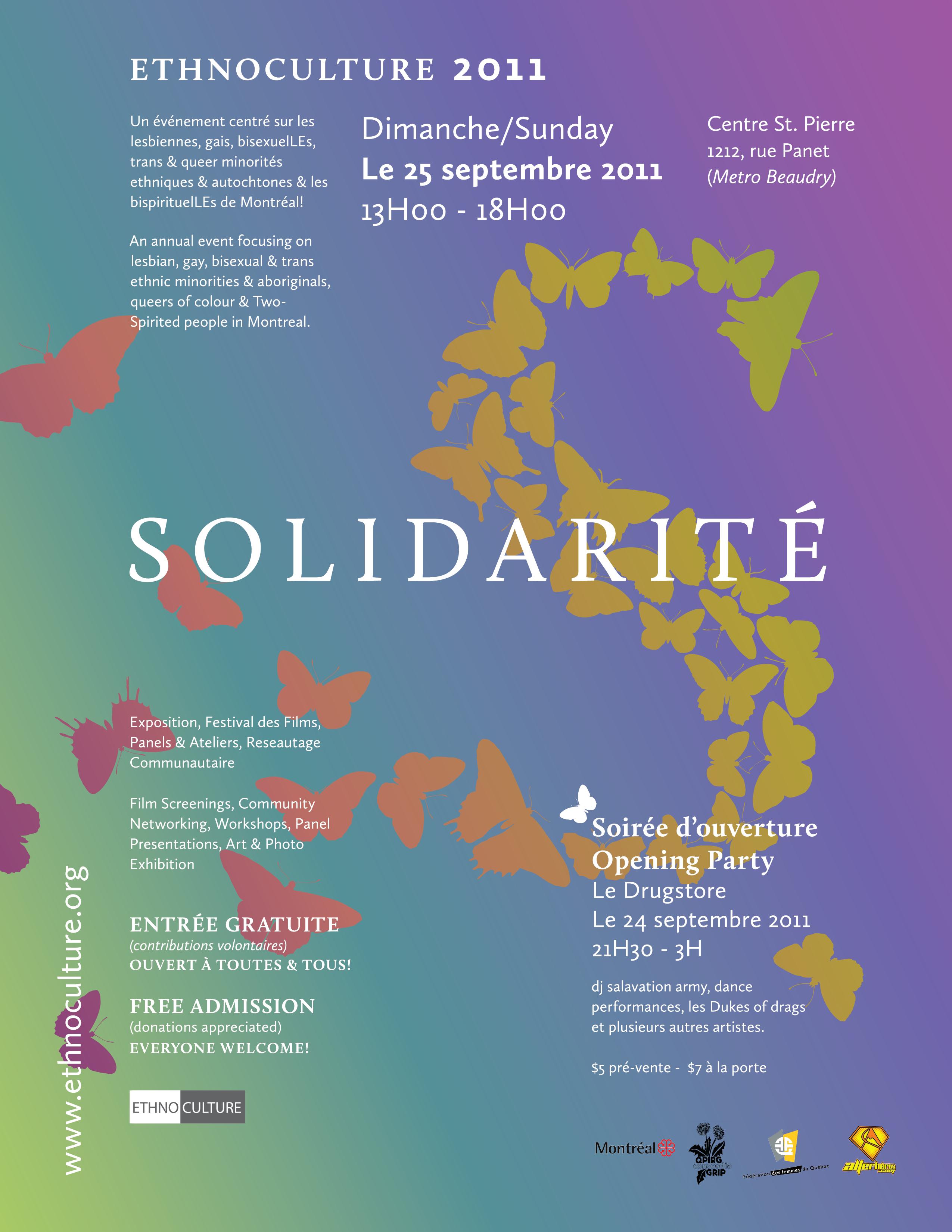 Ethnoculture 25 septembre au Centre St-Pierre